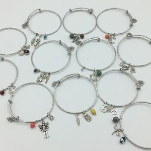 Set of 12 Kid Sized Stretchy Bangle Bracelets!